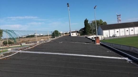Toiture de la tribune du stade de Rugby de Trignac 2019/2020