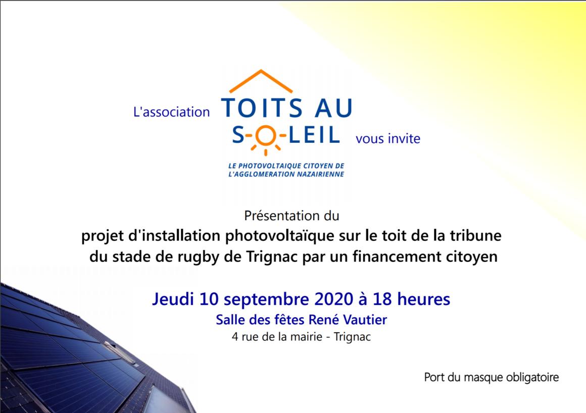 Jeudi septembre réunion publique à Trignac